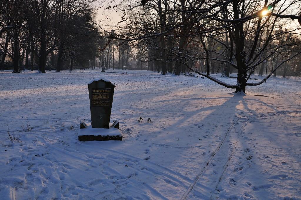 Pomník sovětskému vojákovi, který zahynul při osvobozování Paskova.