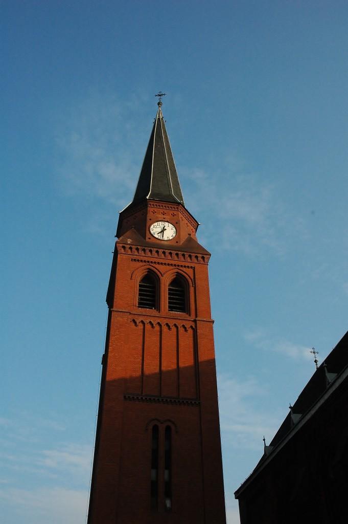 Věž kostela ve Vítkovicích