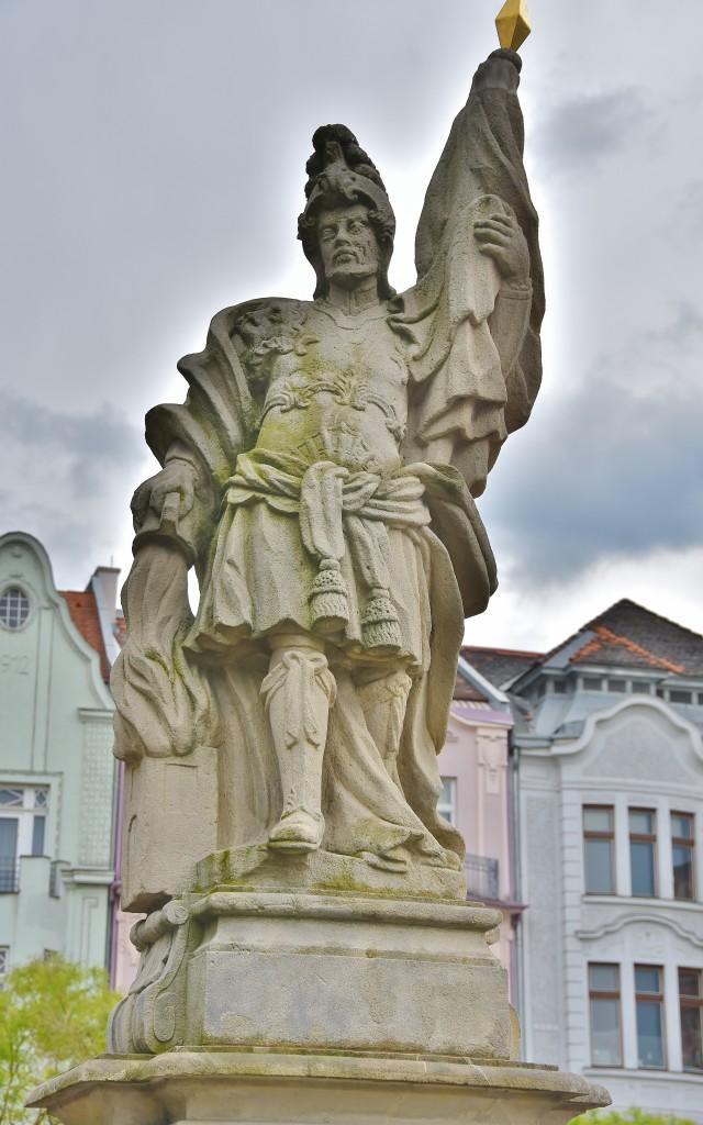 Svatý Florián na ostravském Masarykově náměstí.