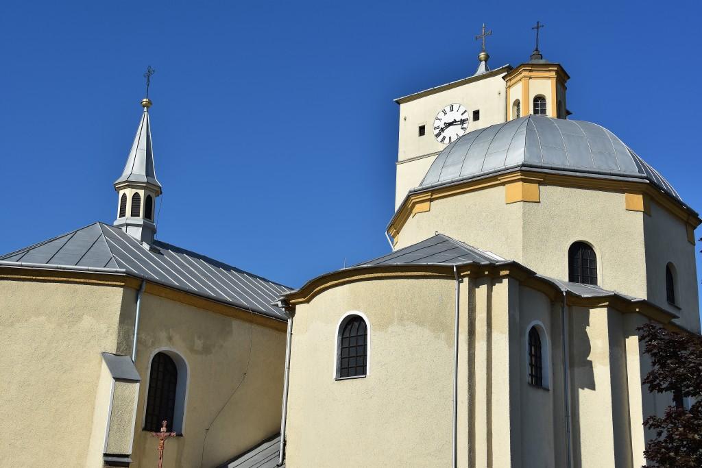 Kostel svaté Kateřiny v Klimkovicích.