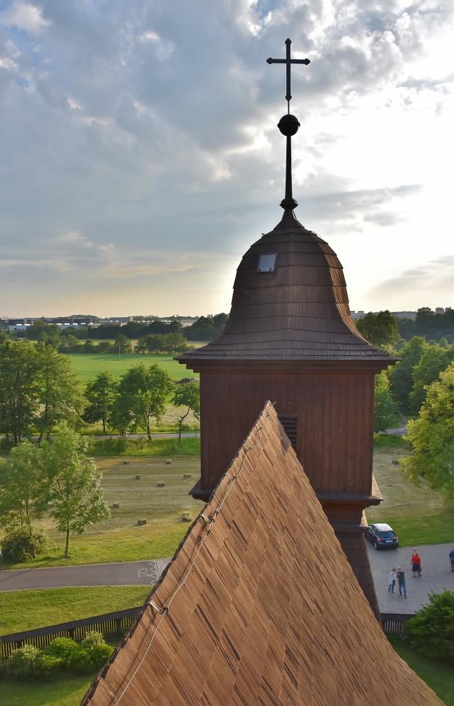 Pohled z věžičky směrem k Nové Bělé.
