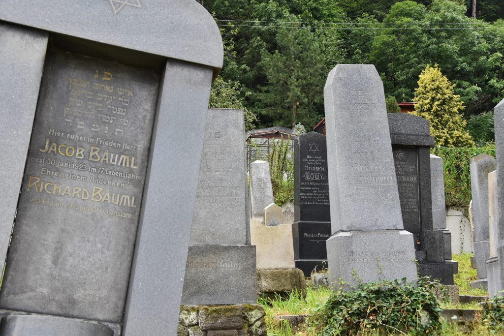 Židovský hřbitov na okraji Krnova.