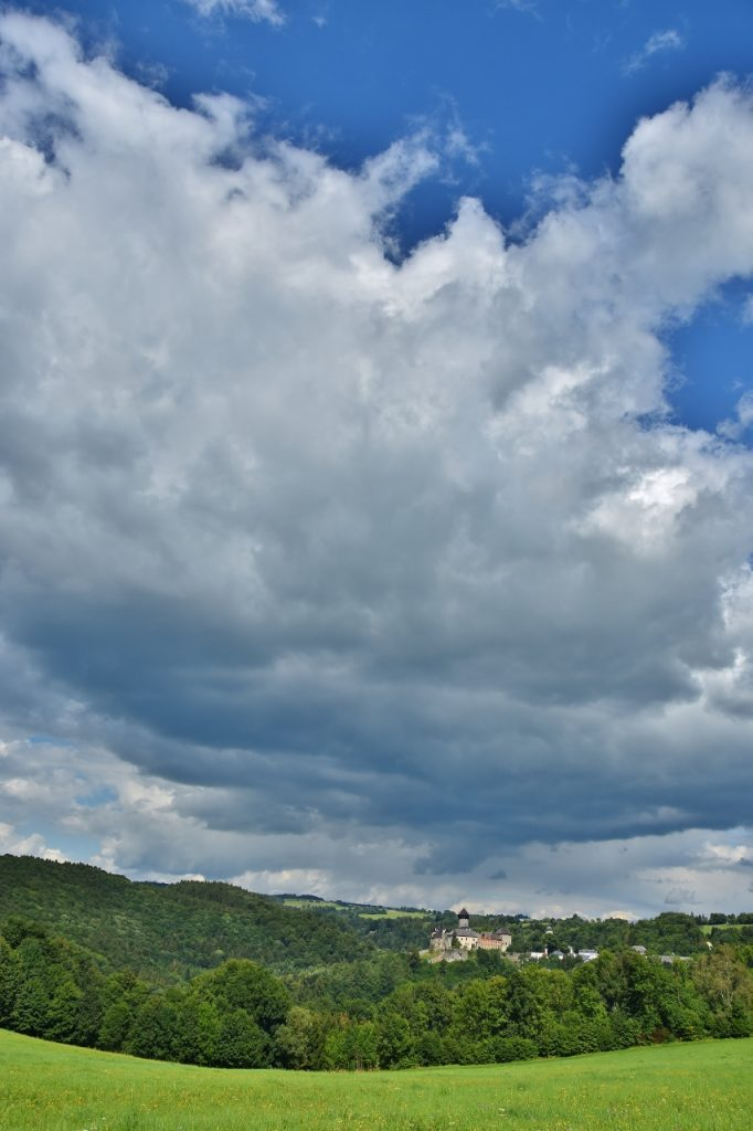 Oblaka nad Sovincem.