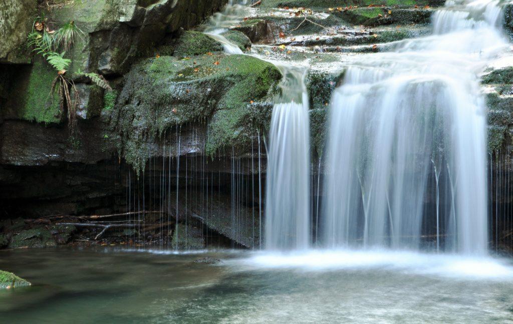 Vodopád na říčce Satině.