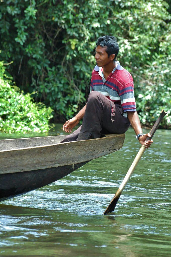 Indián z kmene Warao.