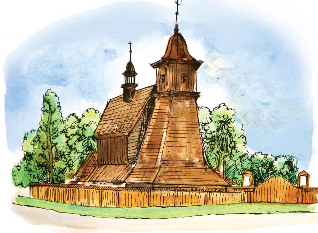 dřevěný kostel svaté Kateřiny Alexandrijské